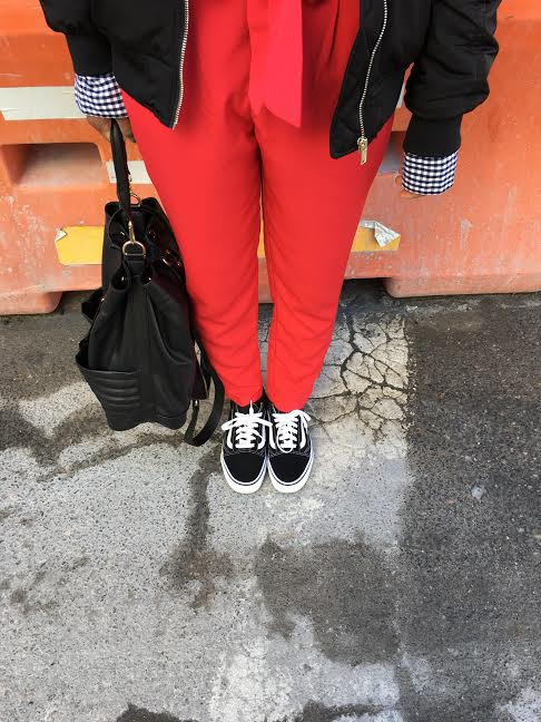 Hope-Morgan-International-Womens-Day-red-pants-Vans