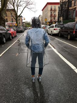 Hope-Morgan-Denim-Day-back-raincoat-legs-apart